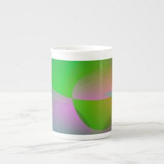 Abstract Green Lotus Leaf Bone China Mug