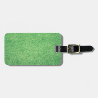 Abstract green luggage tag