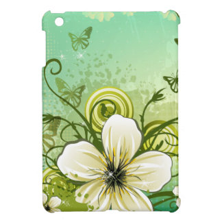 Abstract Green Modern Floral Design Cover For The iPad Mini