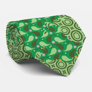 abstract green pattern tie