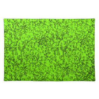 abstract green placemat