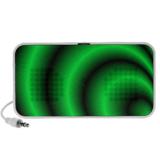 Abstract green psychedelic sound waves speakers