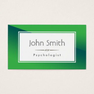 Abstract Green Psychologist Business Card