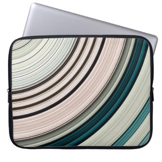Abstract Green Rings Laptop Sleeve