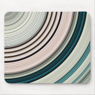Abstract Green Rings Mouse Pad