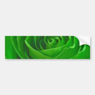 Abstract Green Rose Center Photograph Bumper Sticker