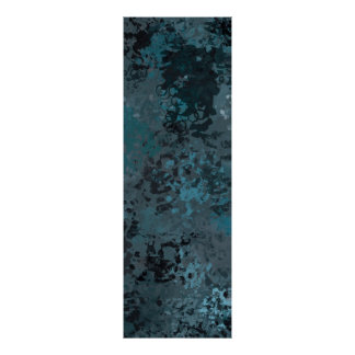 Abstract Green Splatter Painting Poster
