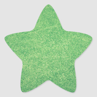 Abstract green star sticker
