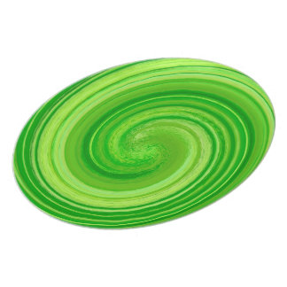 Abstract Green Swirl Pattern Plate