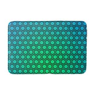 Abstract Green to Turquoise Bath Mat