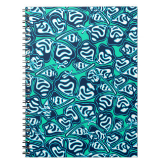 Abstract green tropical floral notebook