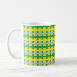 Abstract Green, Yellow and Silver Coffee Mug