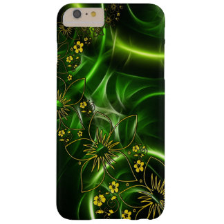 Abstract Green & Yellow Flowers Phone Cover