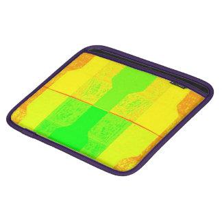 Abstract Green Yellow Orange iPad Sleeve