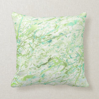 Abstract Greenery Vivid Mint Blue Marble Luxury Cushion