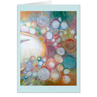 Abstract Greeting Card Add A Saying by Winona
