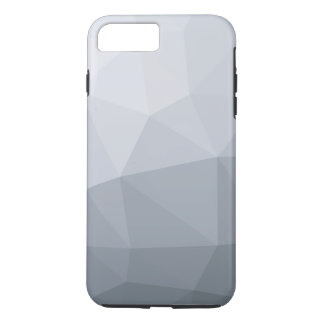 Abstract grey polygonal iPhone 7 plus case