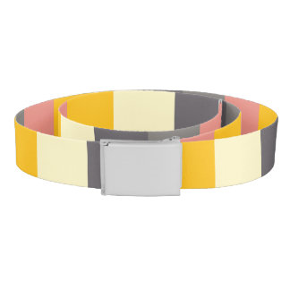 Abstract Grid Color Pattern Belt