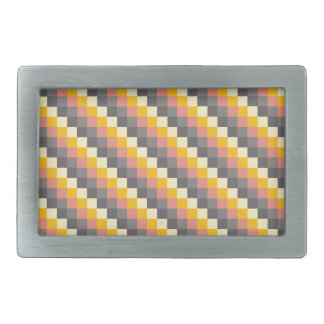 Abstract Grid Color Pattern Belt Buckle