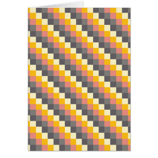 Abstract Grid Color Pattern Card
