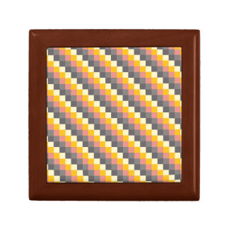 Abstract Grid Color Pattern Gift Box