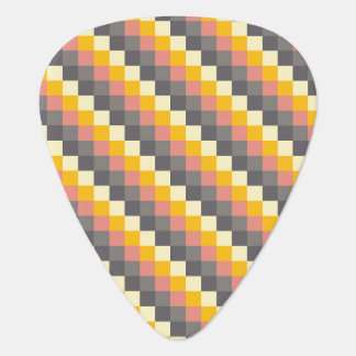 Abstract Grid Color Pattern Guitar Pick