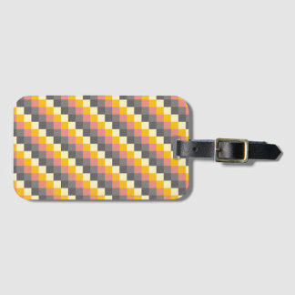 Abstract Grid Color Pattern Luggage Tag