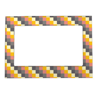 Abstract Grid Color Pattern Magnetic Picture Frame