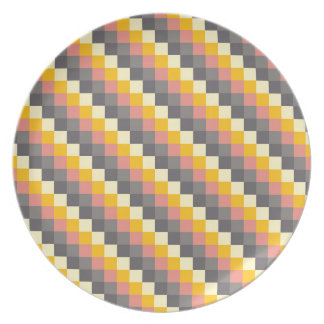 Abstract Grid Color Pattern Plate