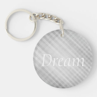 abstract grid pattern Double-Sided round acrylic keychain