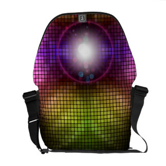 Abstract Grid Vector Art Commuter Bags