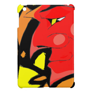 Abstract Grinning Devil Art iPad Mini Cover
