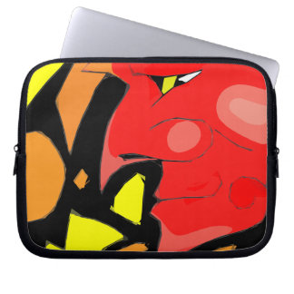 Abstract Grinning Devil Art Laptop Computer Sleeve
