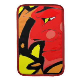 Abstract Grinning Devil Art MacBook Sleeve