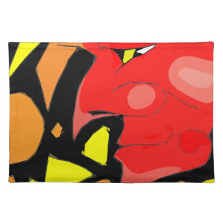 Abstract Grinning Devil Art Placemat