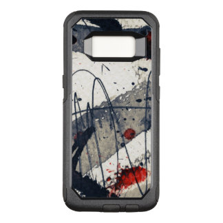 Abstract grunge background, ink texture. OtterBox commuter samsung galaxy s8 case