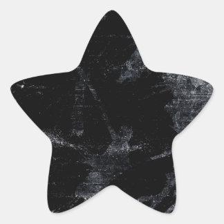 Abstract grunge background star sticker