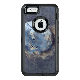 Abstract grunge golf ball OtterBox defender iPhone case
