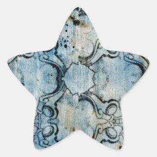 Abstract Grunge Star Sticker