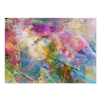 Abstract grunge texture with watercolor paint 3 poster