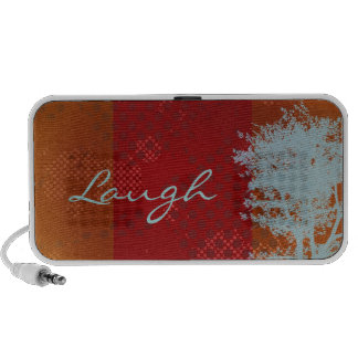 Abstract Grunge Tree Laugh Doodle Speakers