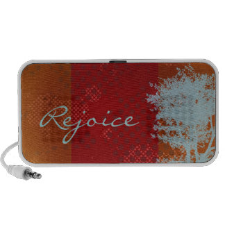 Abstract Grunge Tree Rejoice Doodle Speakers