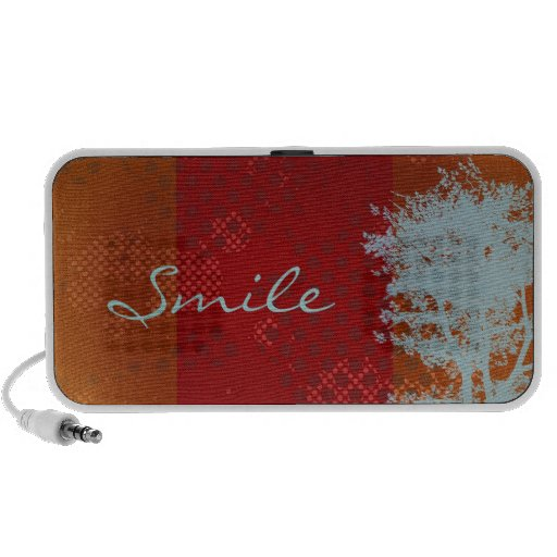 """Abstract Grunge Tree """"Smile"""" Doodle Speakers"""