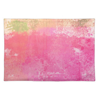 Abstract Grunge Watercolor Pink Placemat