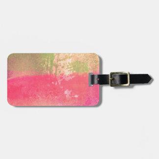 Abstract Grunge Watercolor Print Bag Tag