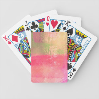 Abstract Grunge Watercolor Print Bicycle Playing Cards
