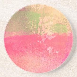 Abstract Grunge Watercolor Print Coaster