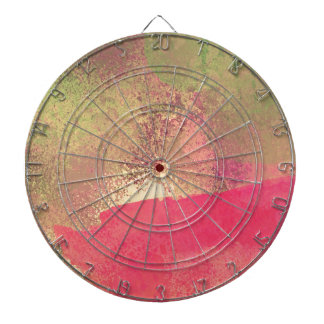 Abstract Grunge Watercolor Print Dartboard