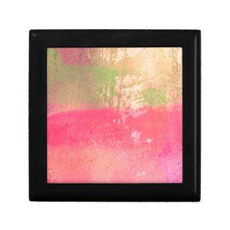 Abstract Grunge Watercolor Print Gift Box