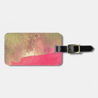 Abstract Grunge Watercolor Print Luggage Tag